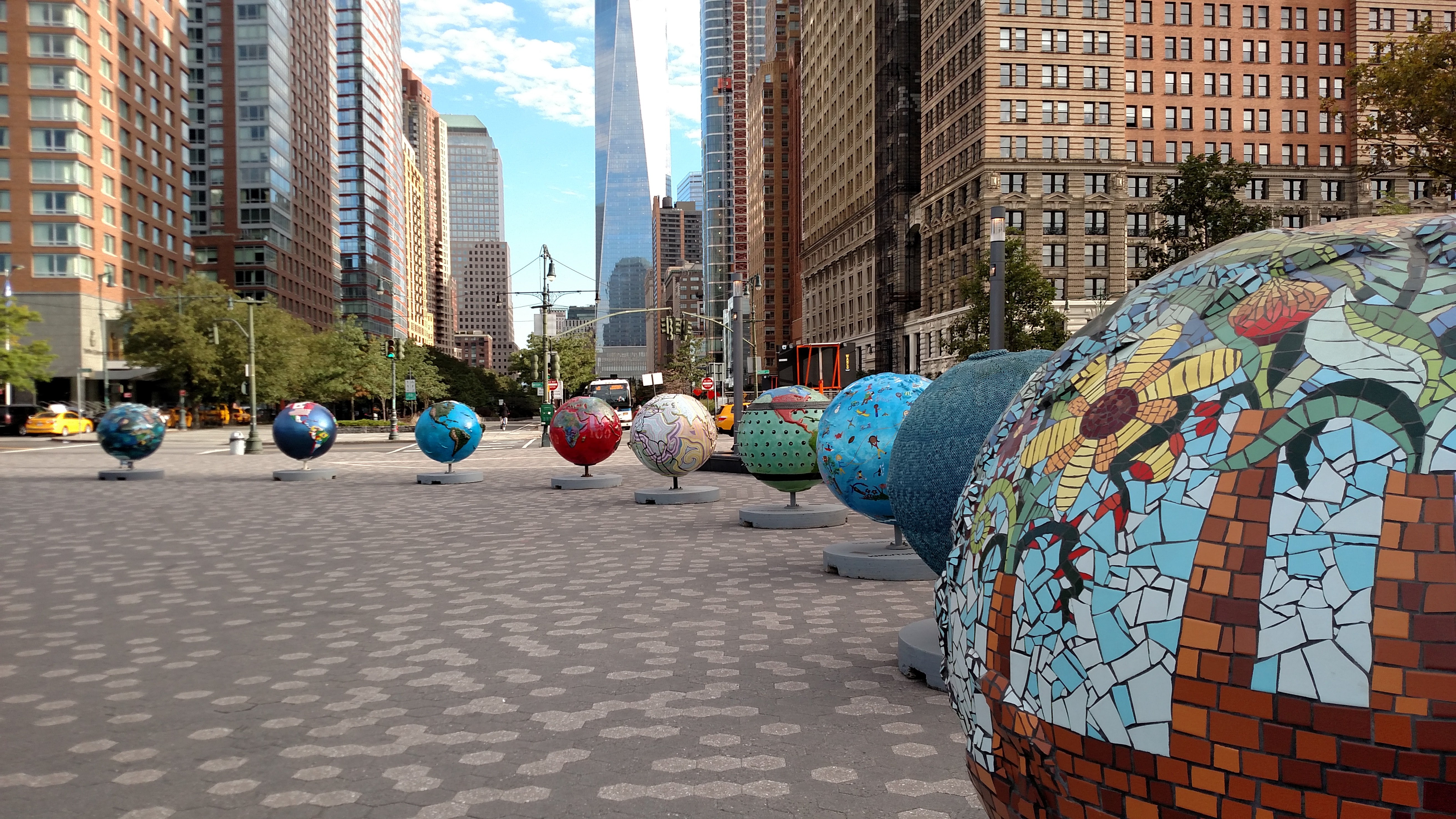 Governor Cuomo Announces Cool Globes Exhibit In Battery Park City