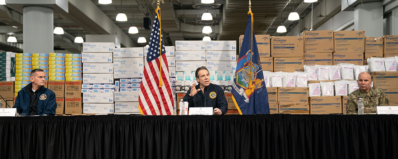 Amid Ongoing Covid 19 Pandemic Governor Cuomo Announces
