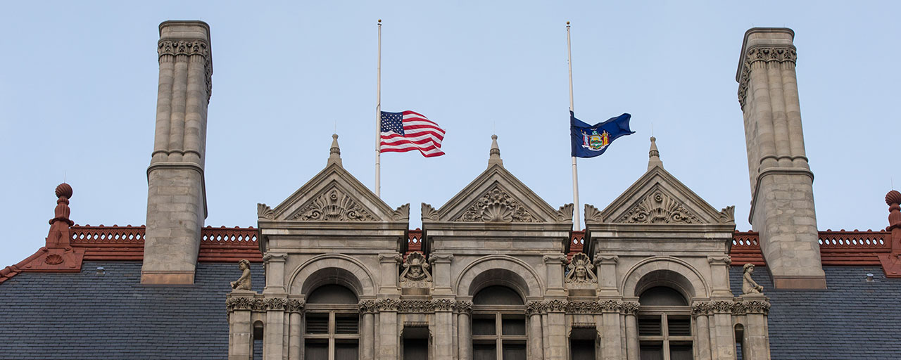 why are flags at half staff