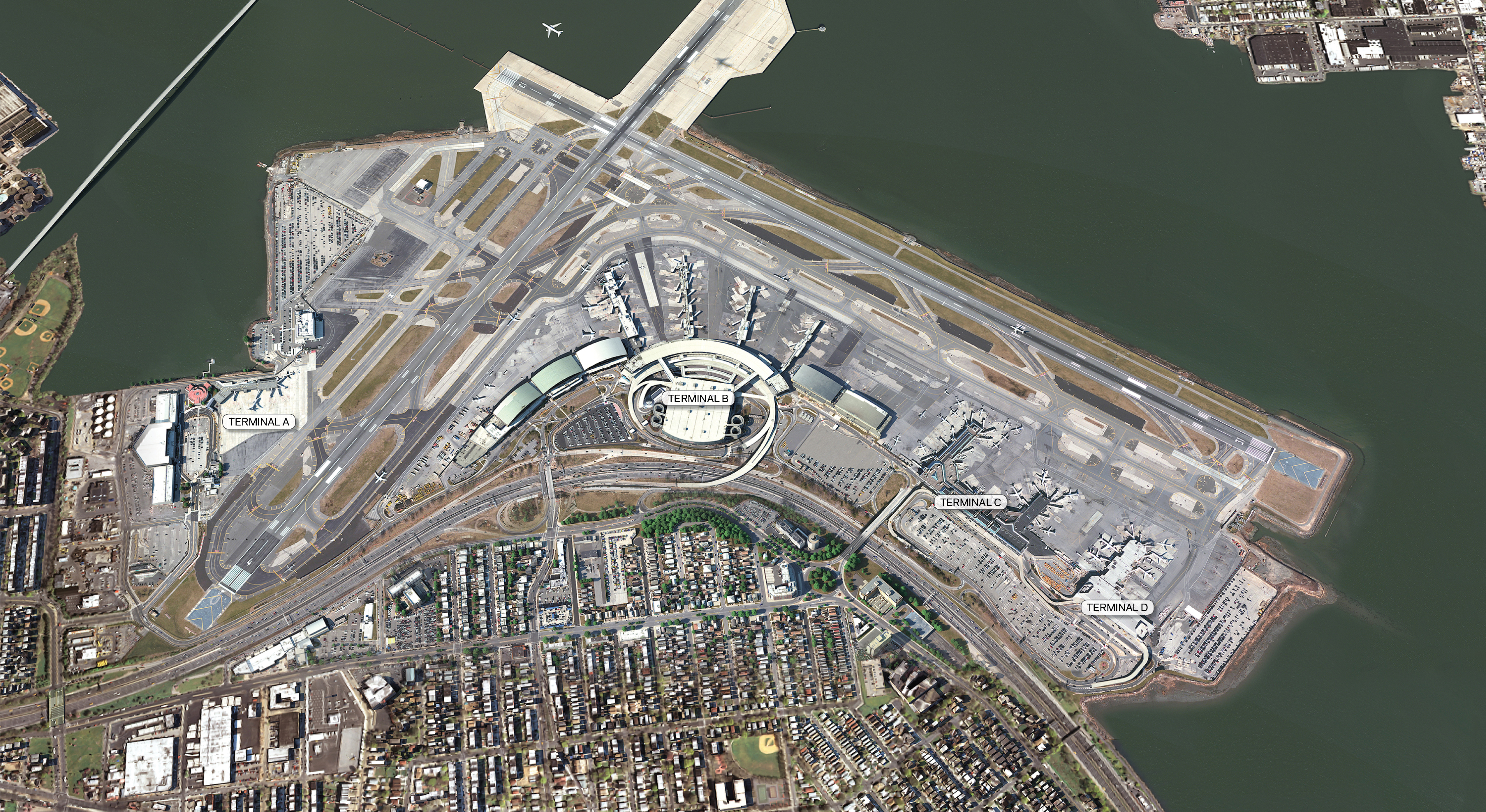 Single Unified Terminal Laguardia S Current Terminal Layout Comprised Of Multiple Fragmented Terminals Po