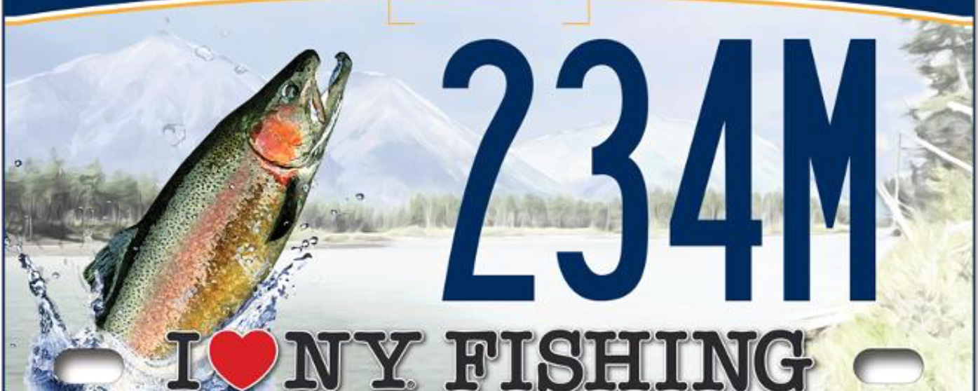 Governor cuomo announces adventure license plates now for Fishing license ny