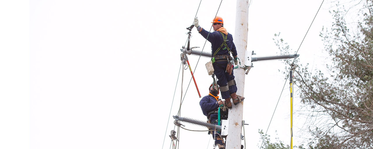 Utility Power Workers Storm Hero.